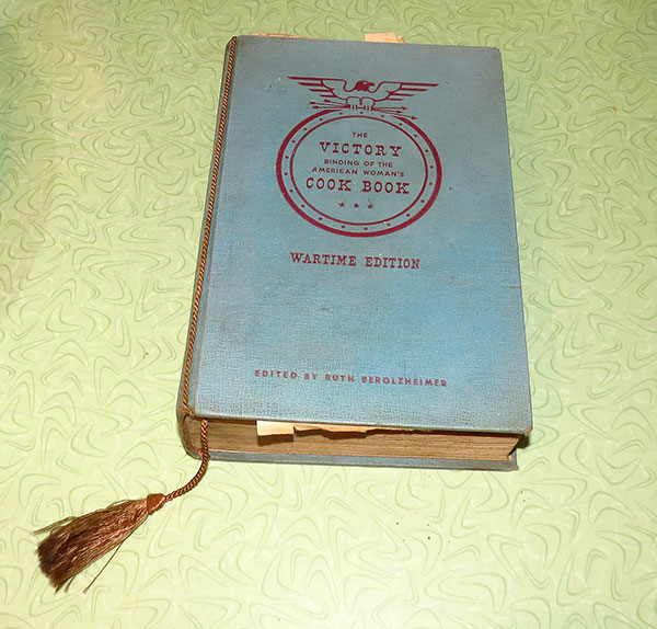"""""""The Victory Binding of the American Woman's Cook Book, Wartime Edition"""""""