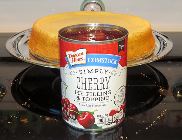 Canned cherry pie filling