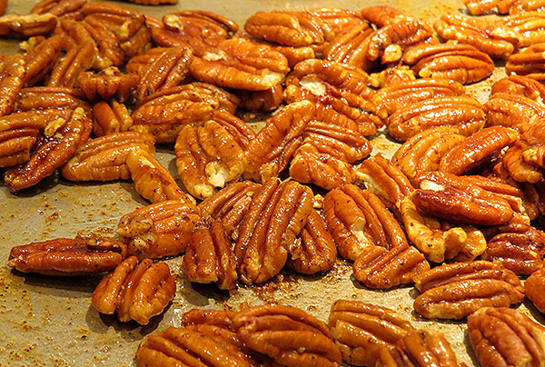 Spiced nuts, ready for roasting
