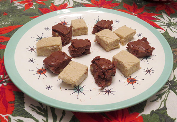 A plate of the final fudge.