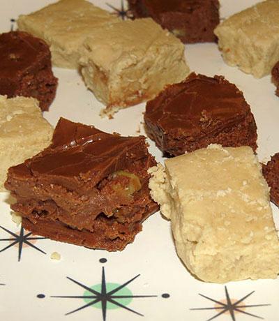 Chocolate and panocha fudge