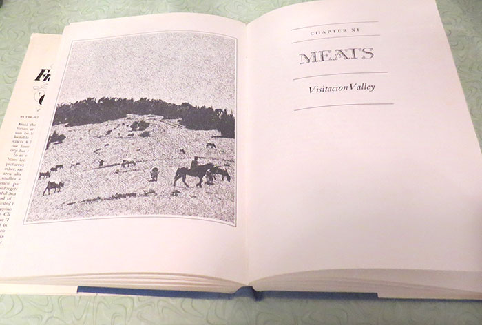 One of the title pages of the book, featuring a photo from a site in San Fransisco