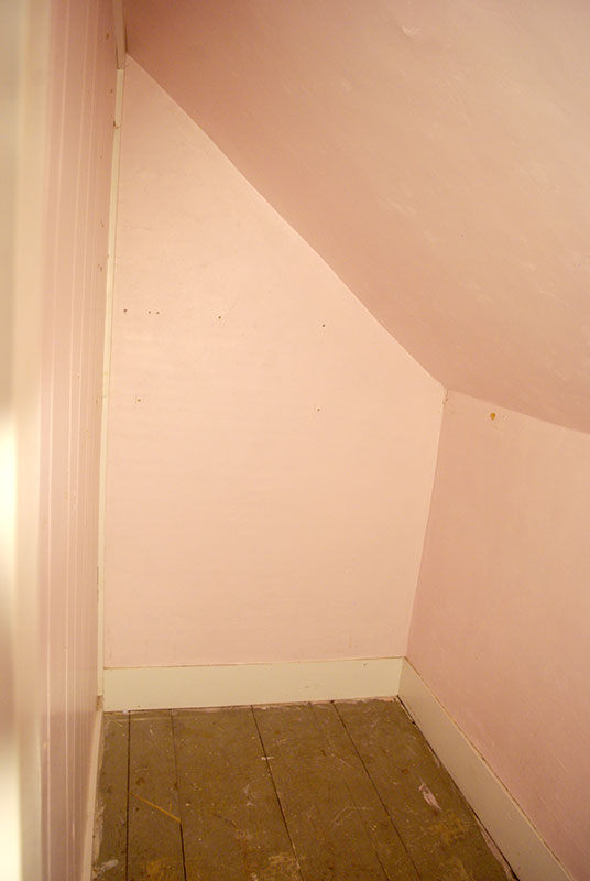 This was the closet in our back bedroom which was expanded into the new bathroom.