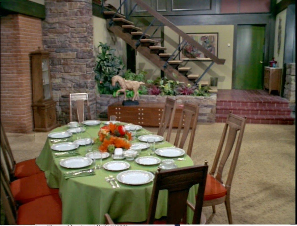 """""""The Brady Bunch"""" dining room turned out to be an accidental inspiration for our dining room"""