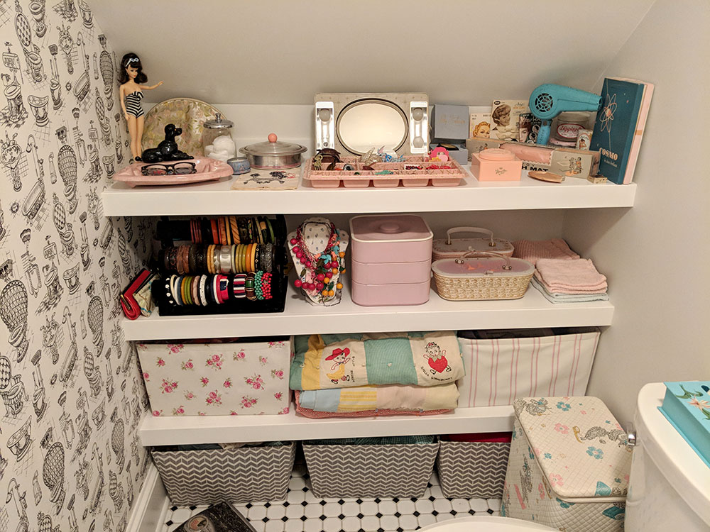 Our new display and storage shelves.