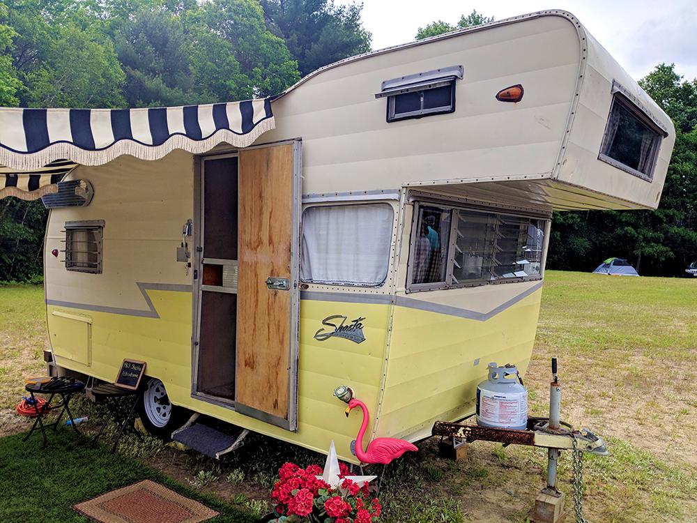 Vintage Shasta travel trailer