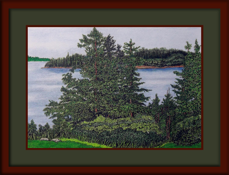LAKE VIEW Framed