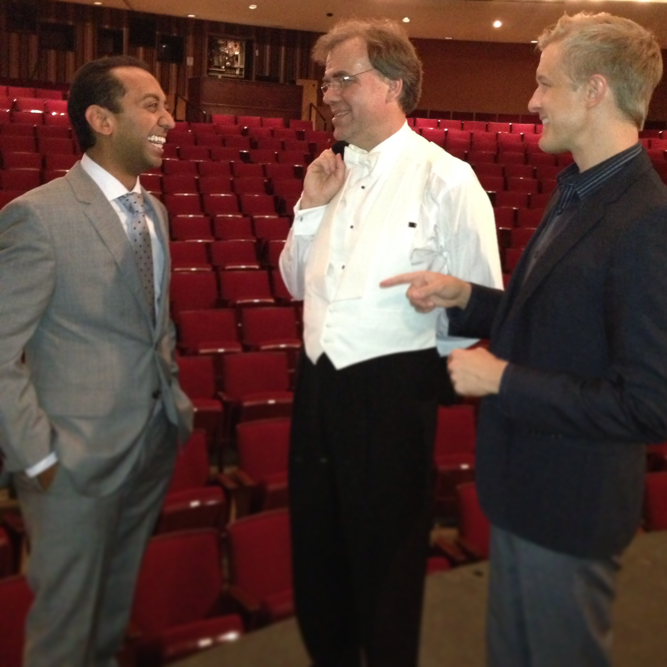 With colleagues Sameer Patel and Christopher Wilkins after playing a Mozart Piano Concerto with Maestro Wilkins and the Akron Symphony.