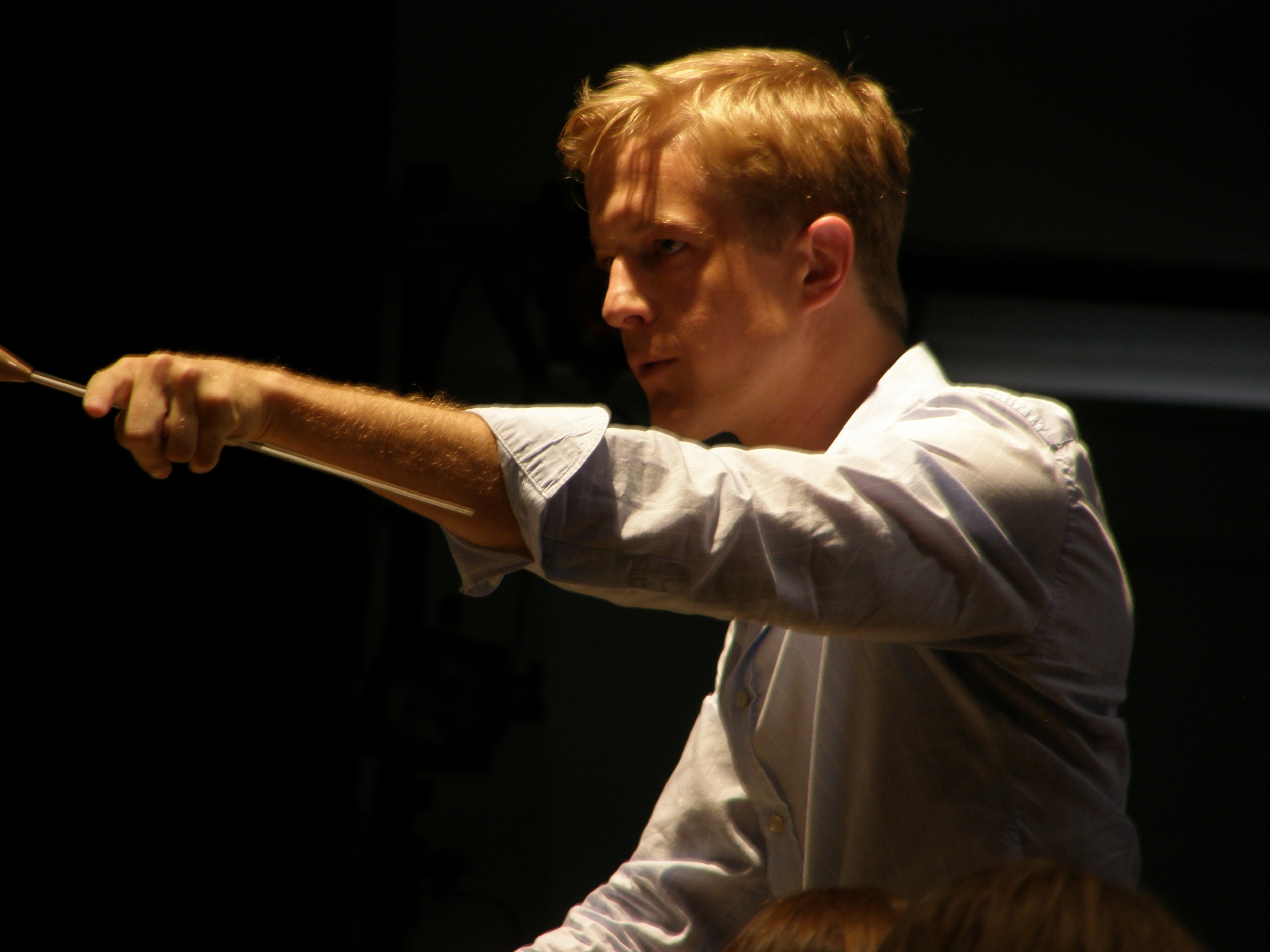Conducting at the Castleton Festival.