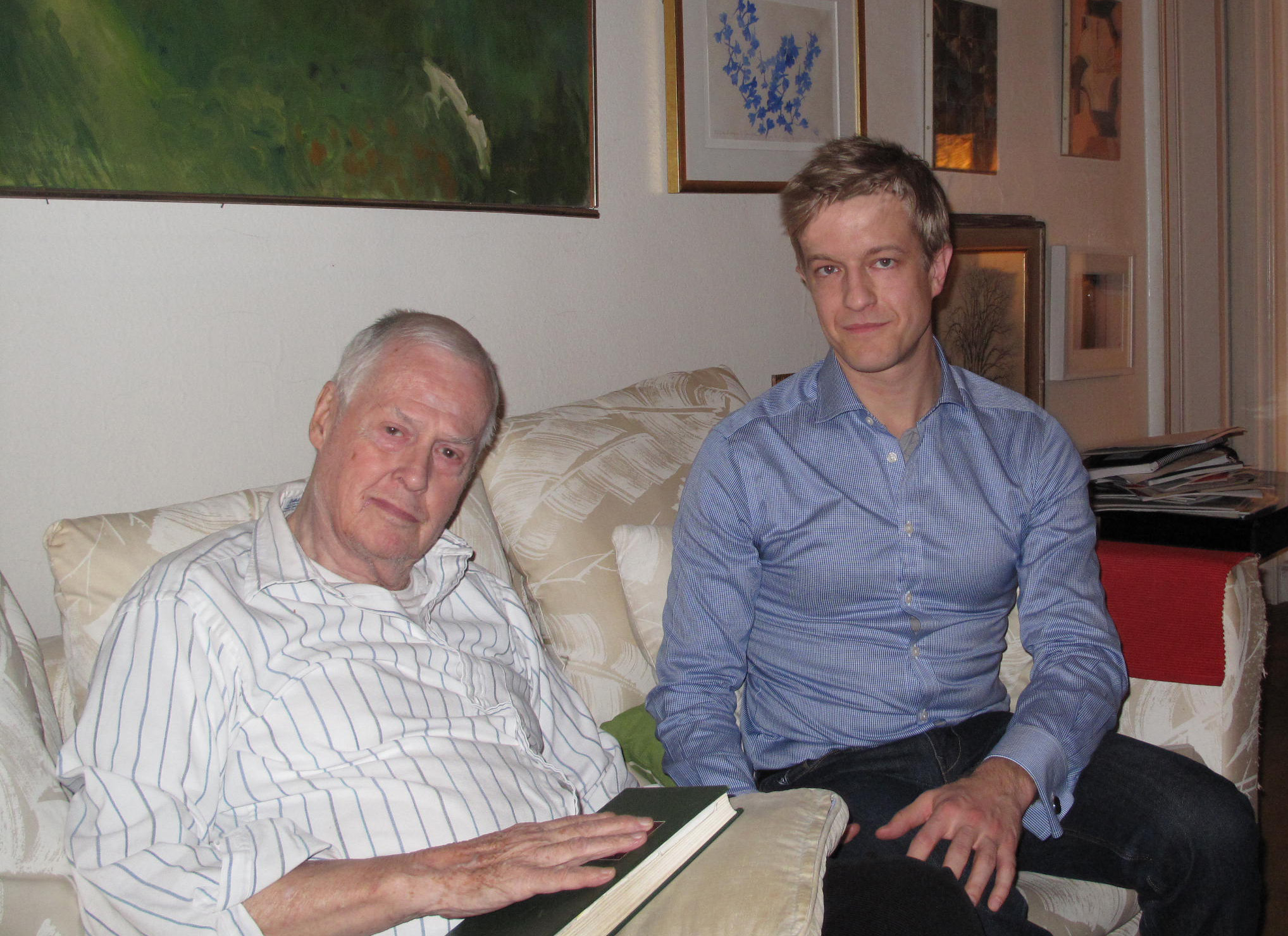 At composer Ned Rorem's apartment in New York City.