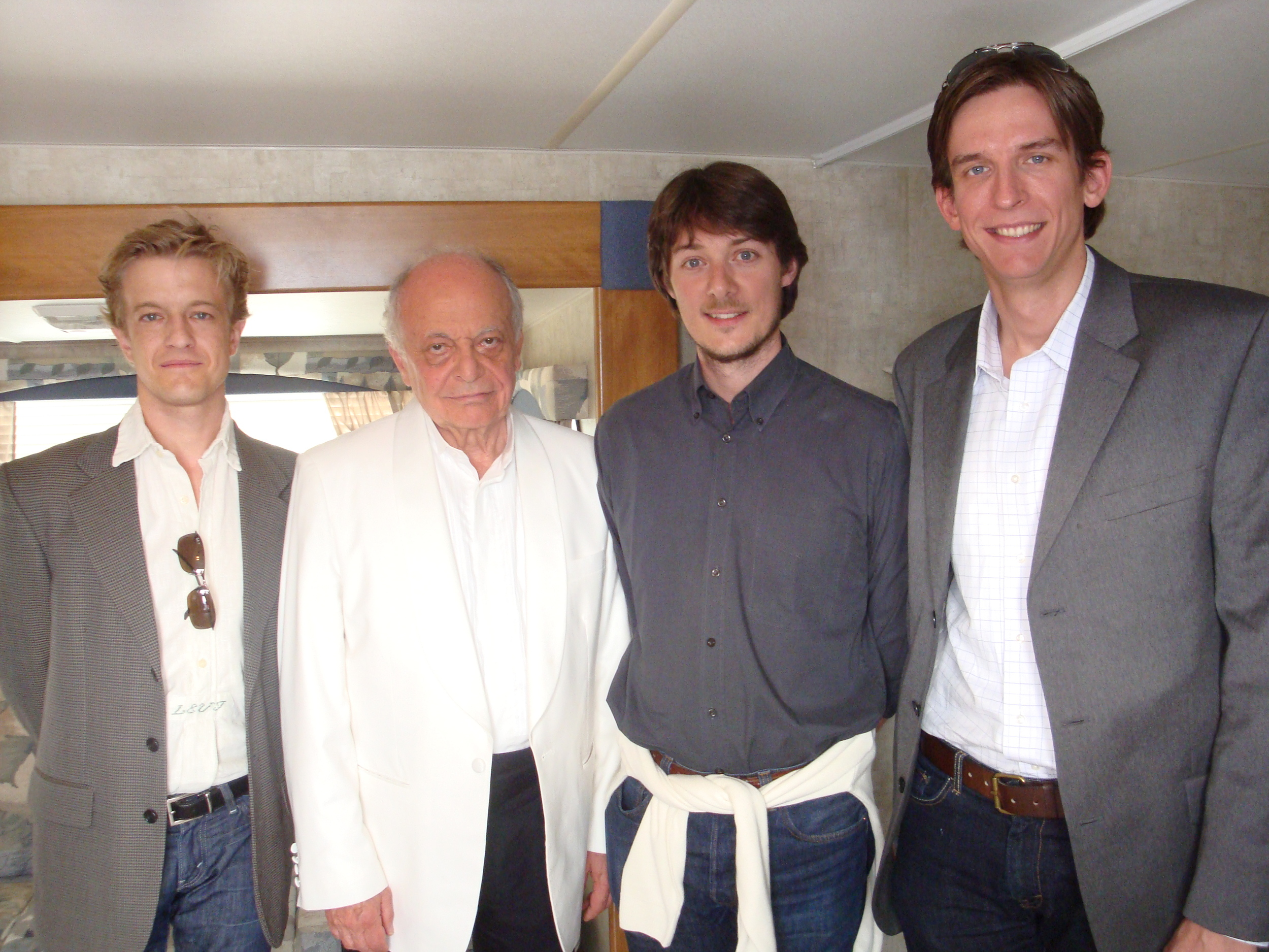 With Maestro Lorin Maazel and good friends Maestri Matthieu Mantanus and Blake Richardson at the Castleton Festival.