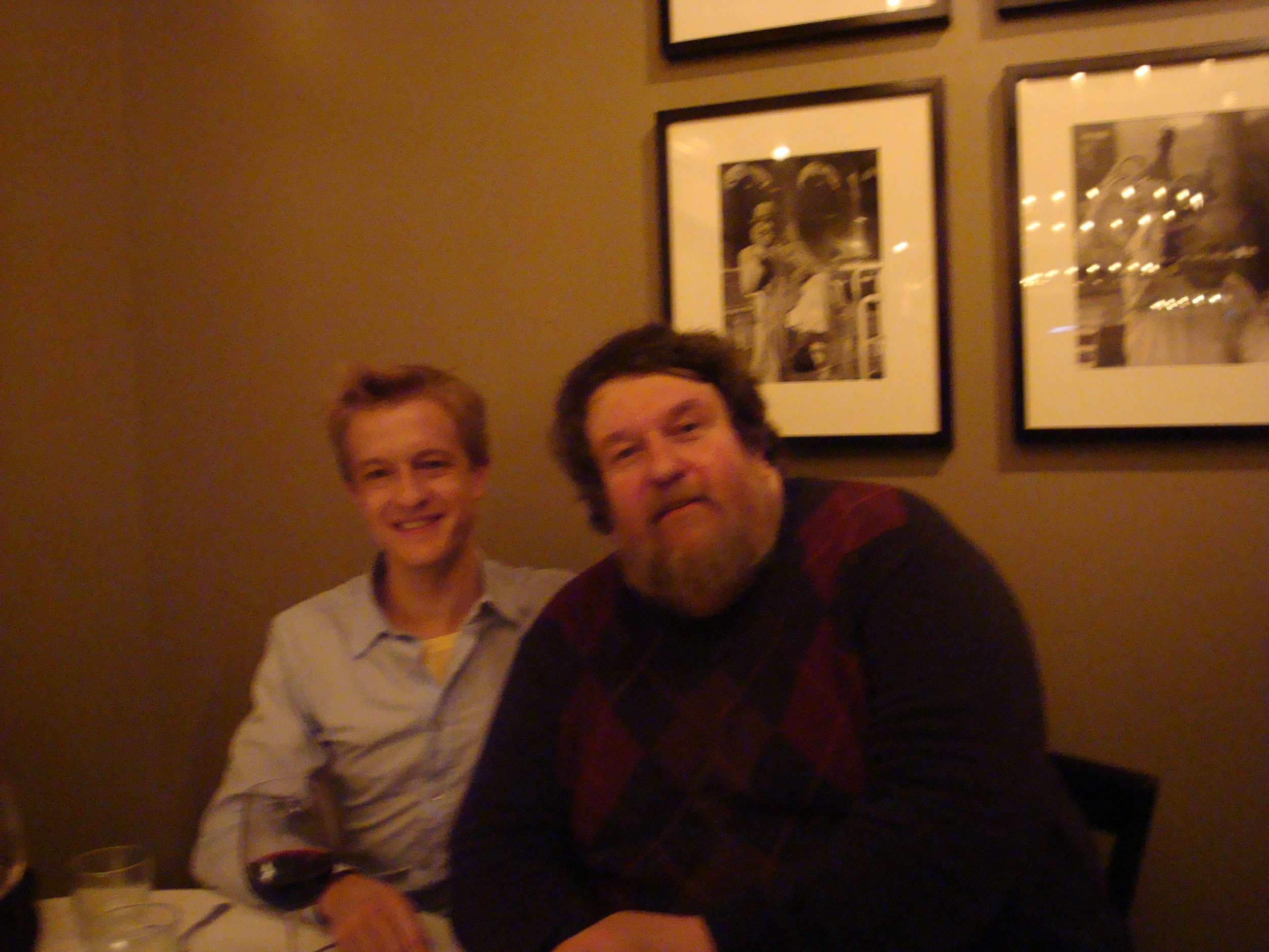 With the great composer and conductor Oliver Knussen, whose Songs without Voices  I conducted, and whom I assisted on his first(!) Beethoven 5.