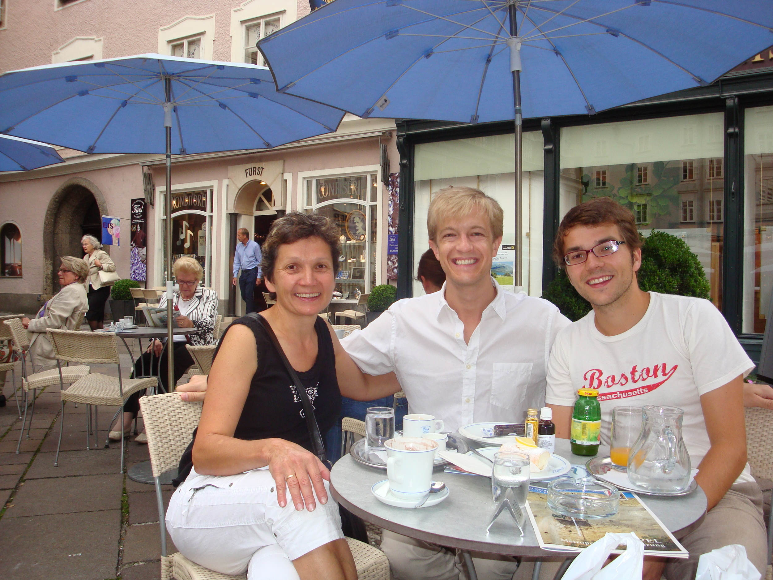 """With """"Austrian family"""" Rosi and Georg Dürnberger."""