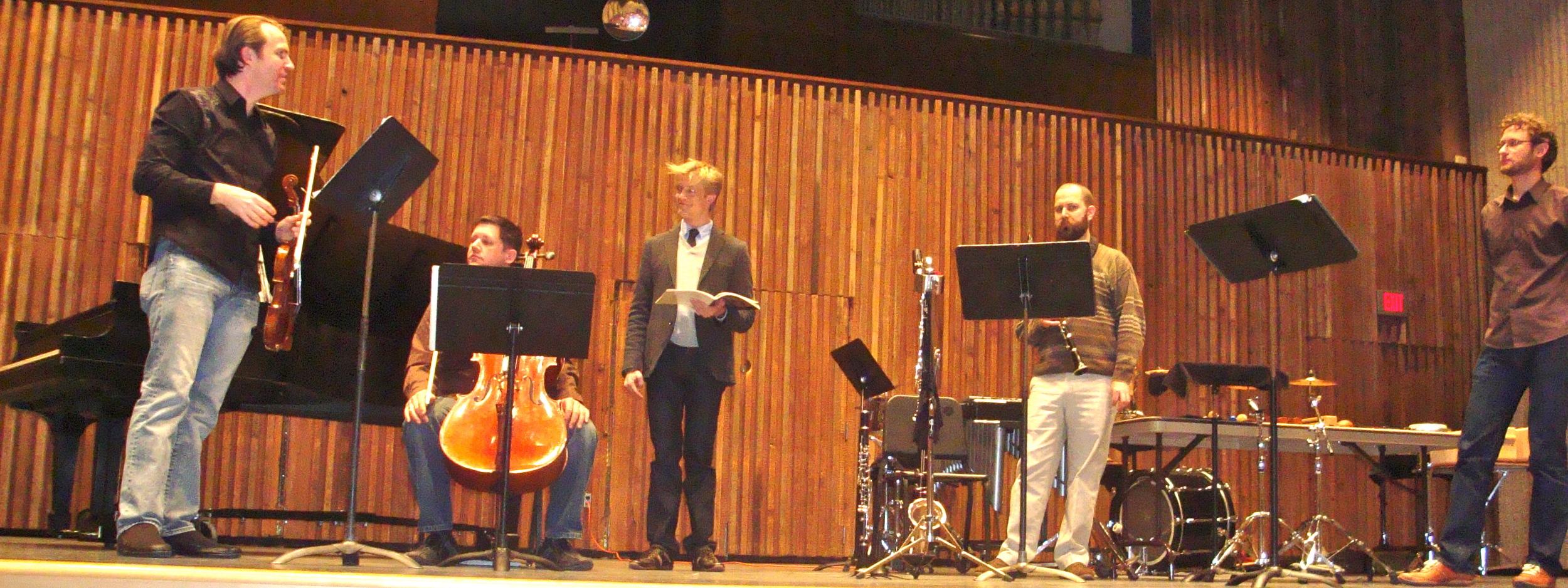 With  eighth blackbird  as guest reciter in Schoenberg's Pierrot Lunaire.