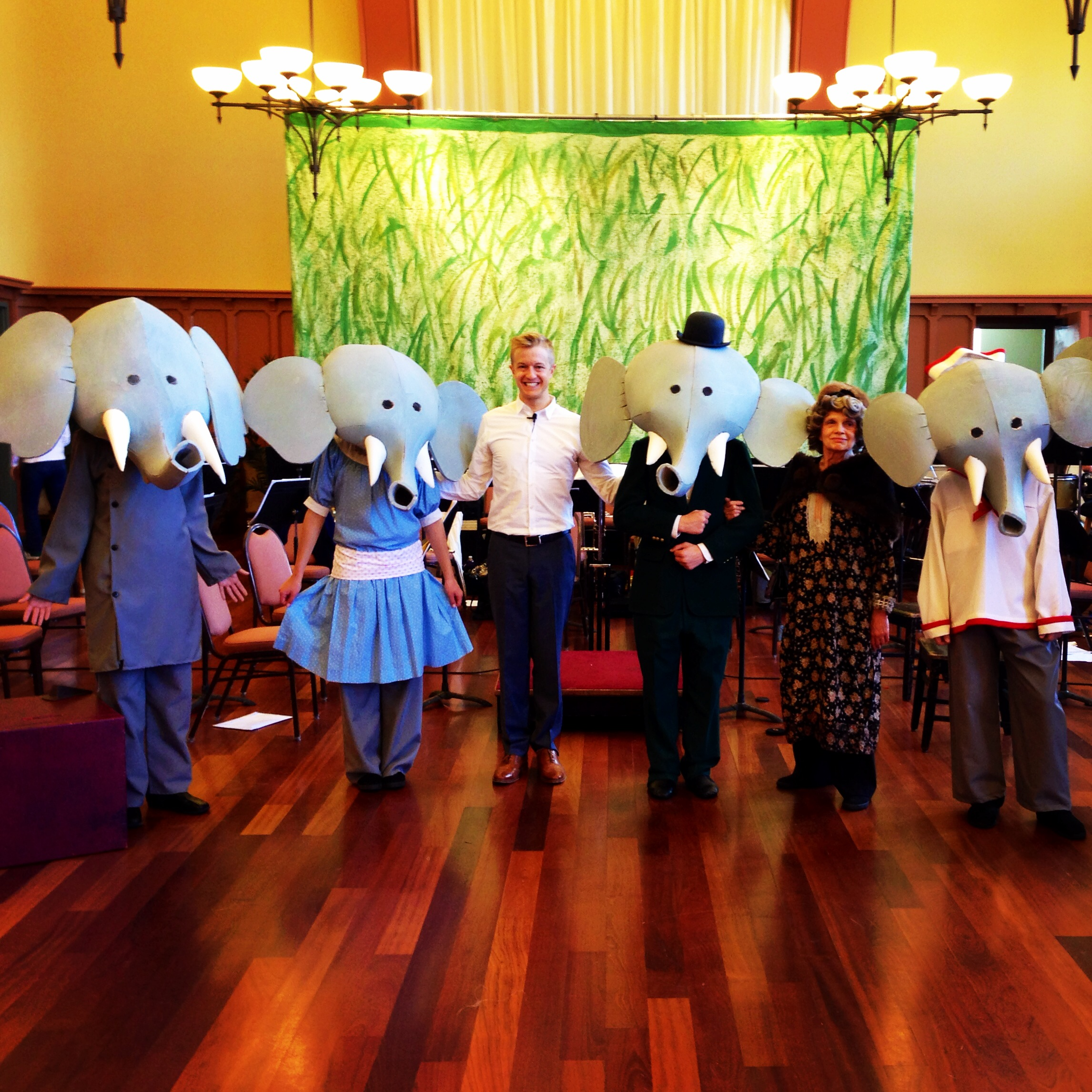 With the cast of my production of Poulenc's  Babar with the Akron Symphony.