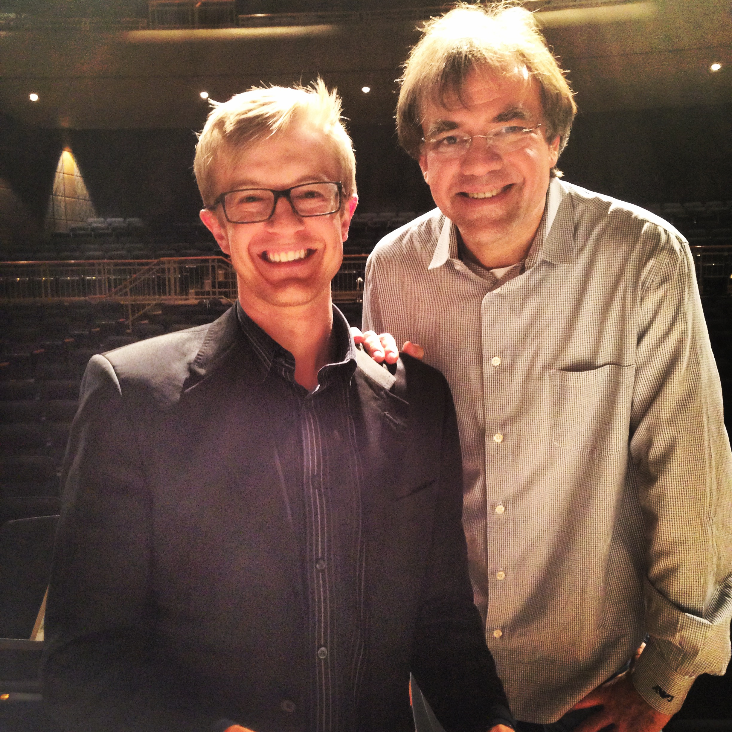 Mid-rehearsal with my beloved friend and mentor Christopher Wilkins.