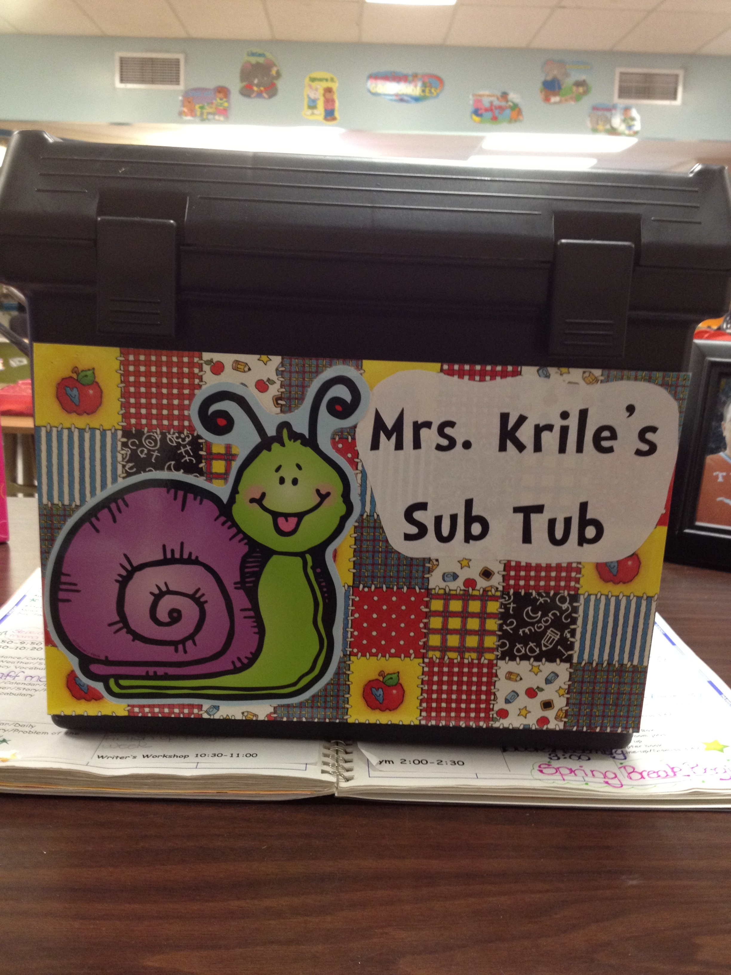 The Sub Tub is one-stop-shopping for anyone who needs to know what to do in the case I'm not around.