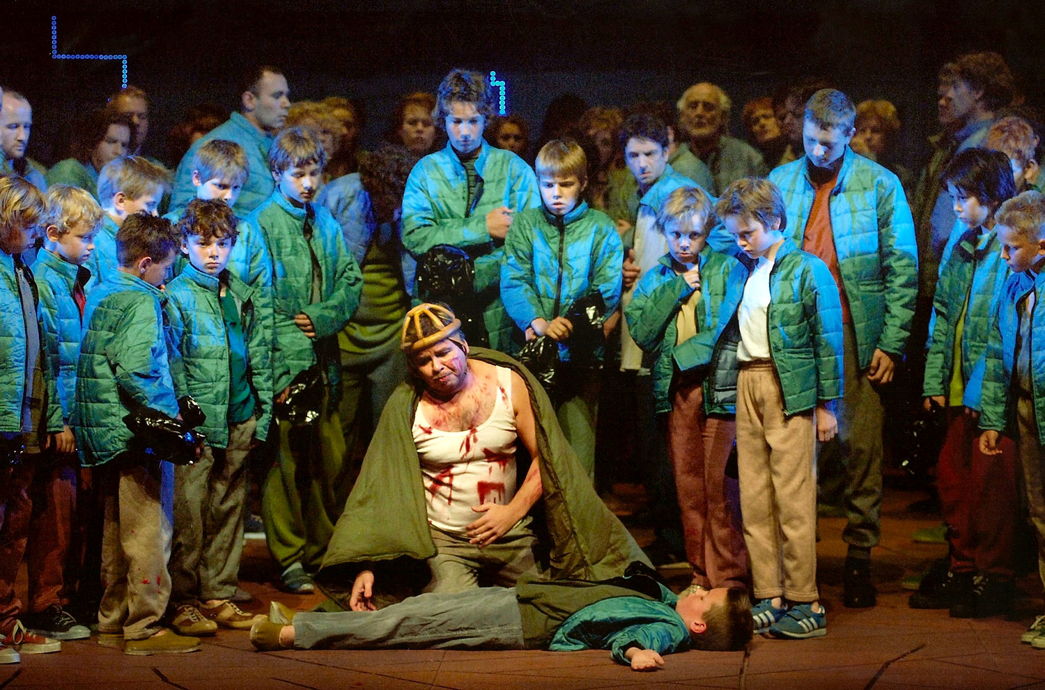 As the Simpleton in  Boris Godunov . Nationale Reisopera, Netherlands. © Hermann and Clärchen Baus