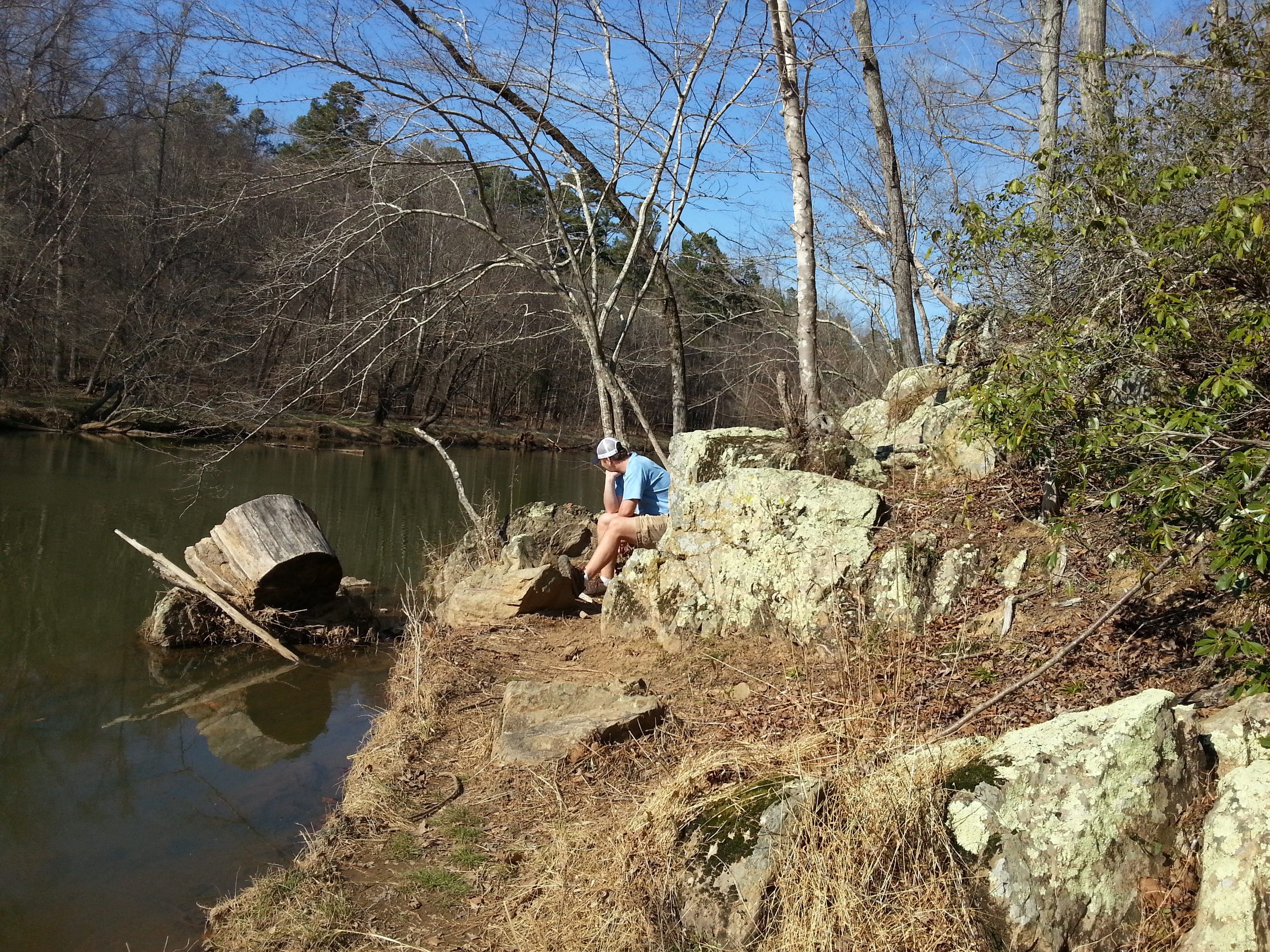 Checking out the river at West Point on the Eno Park