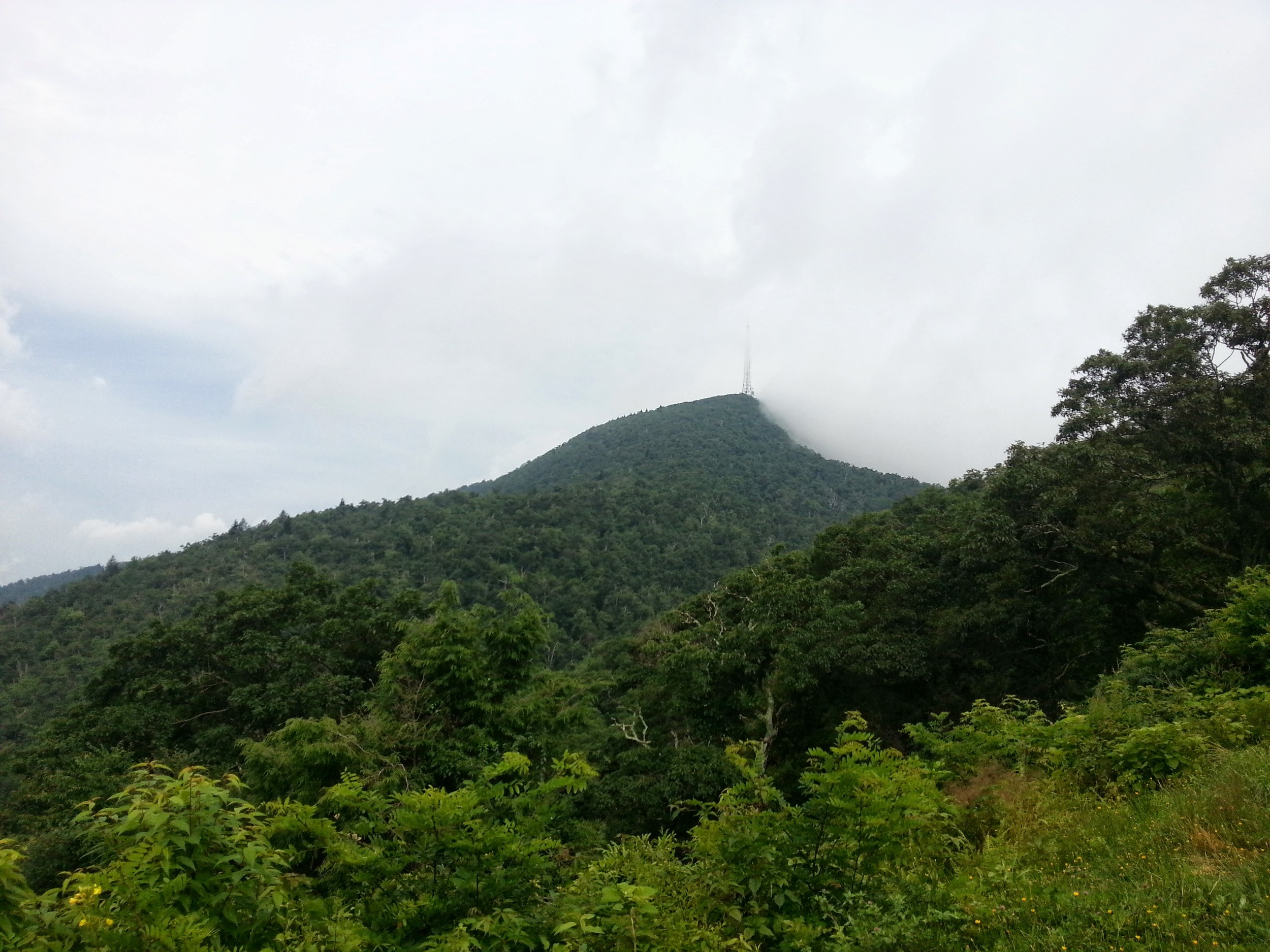 """Mount Pisgah. And yes, all my friends got an excited snapchat of it with a caption """"I CLIMBED THAT!"""" after we got back to the trailhead. Newbie hiker, I know."""