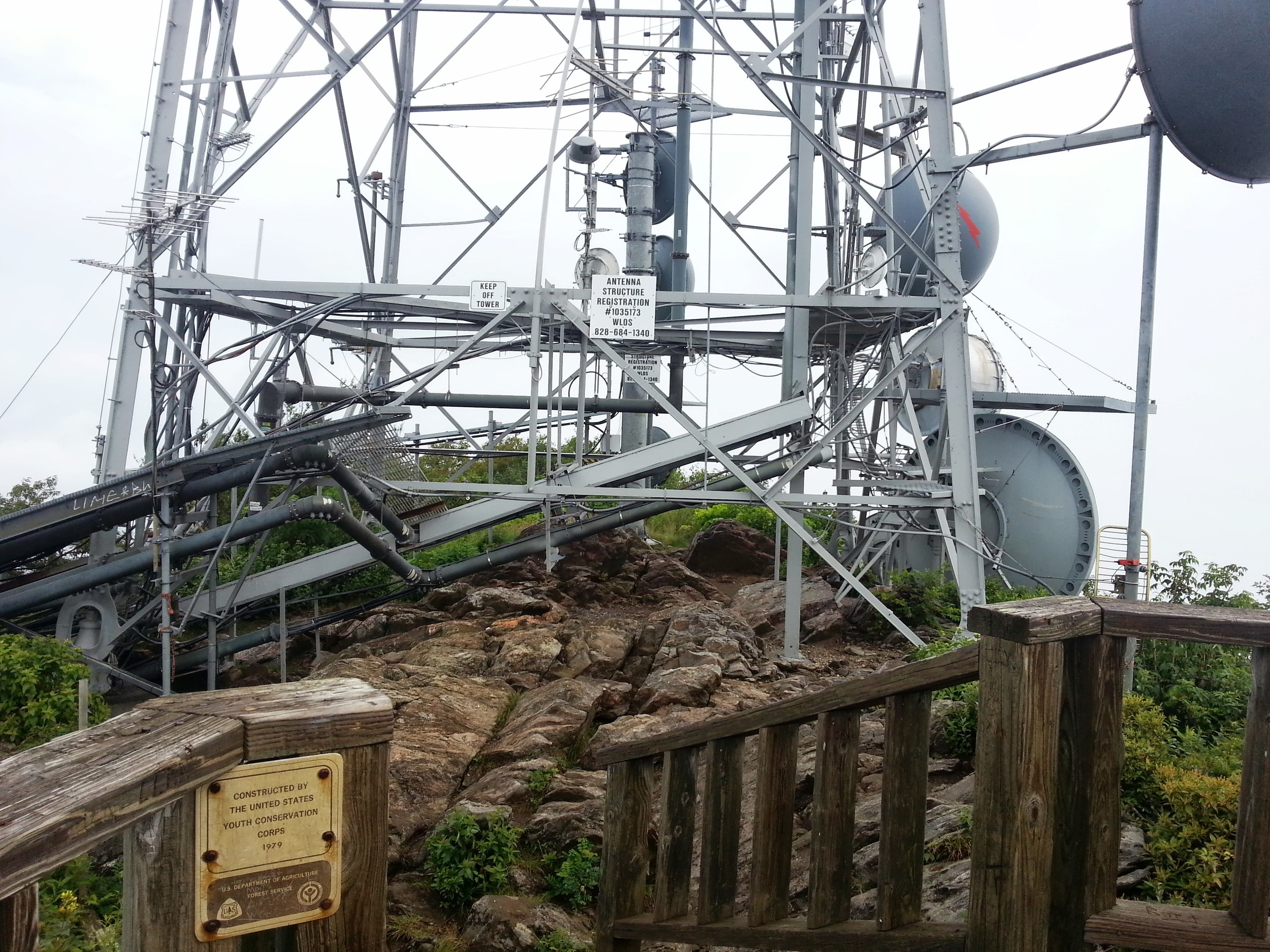 The observation deck and tower at the top of Mt. Pisgah
