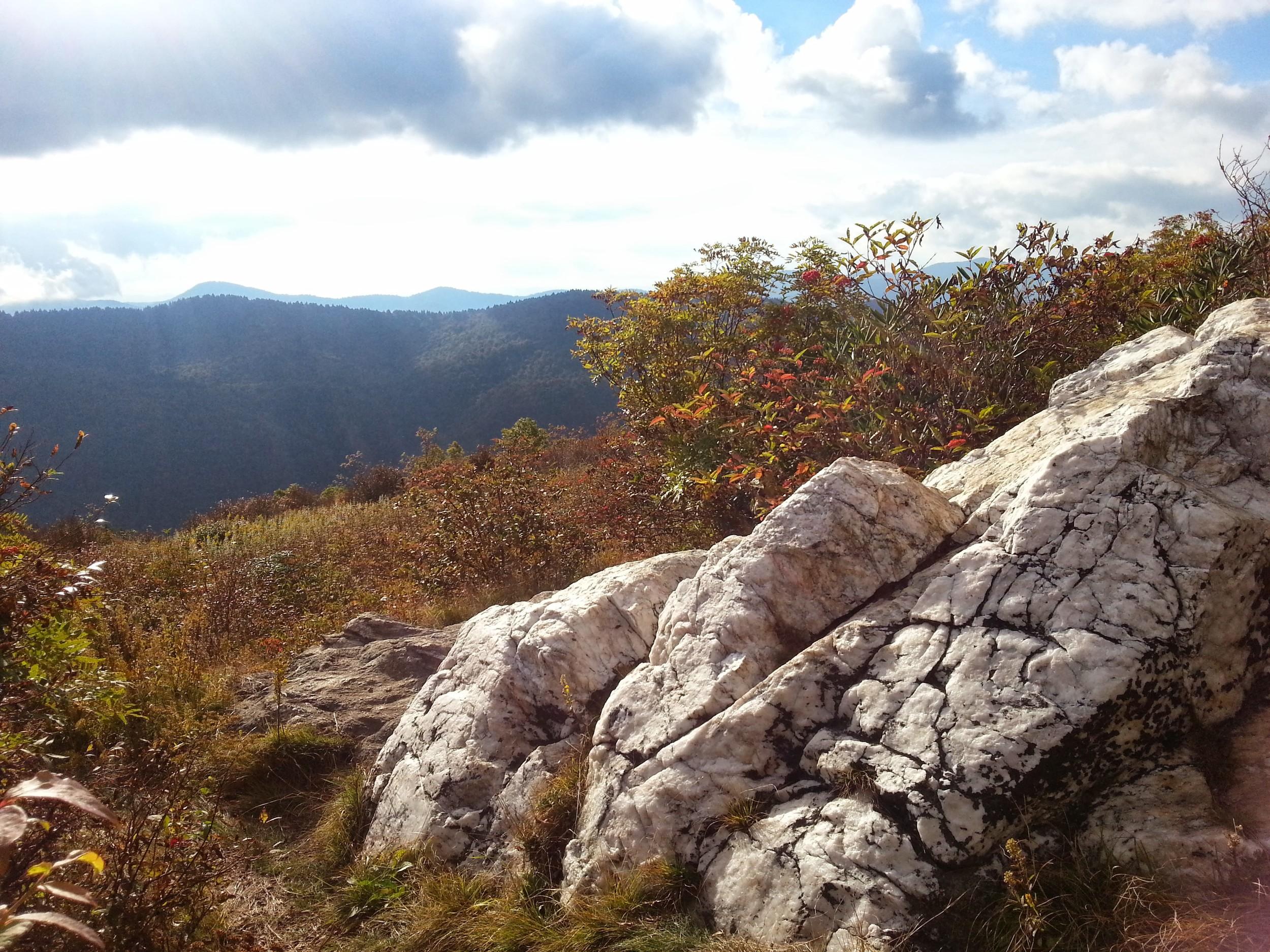 An outcrop of quartz