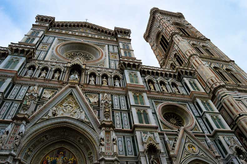 The front of the Duomo