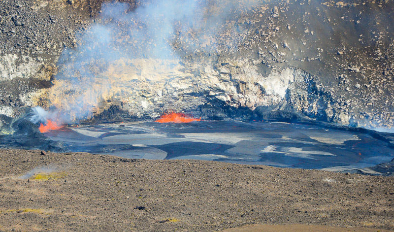 The lava lake in Halema'uma'u Crater.