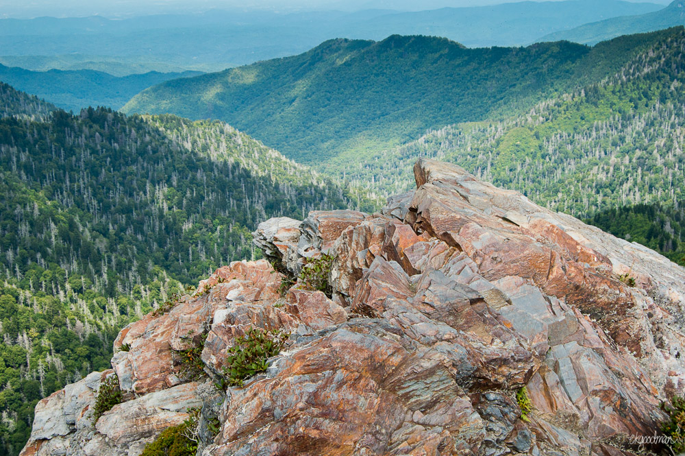 View from Charlie's Bunion in Great Smoky Mountains National Park