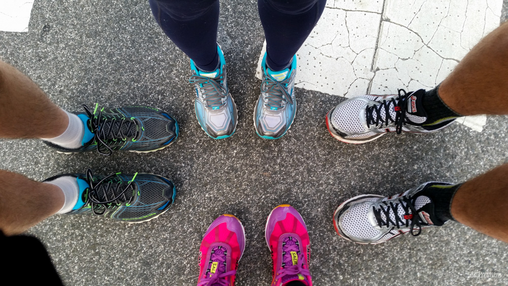 Pre-race pic with friends.