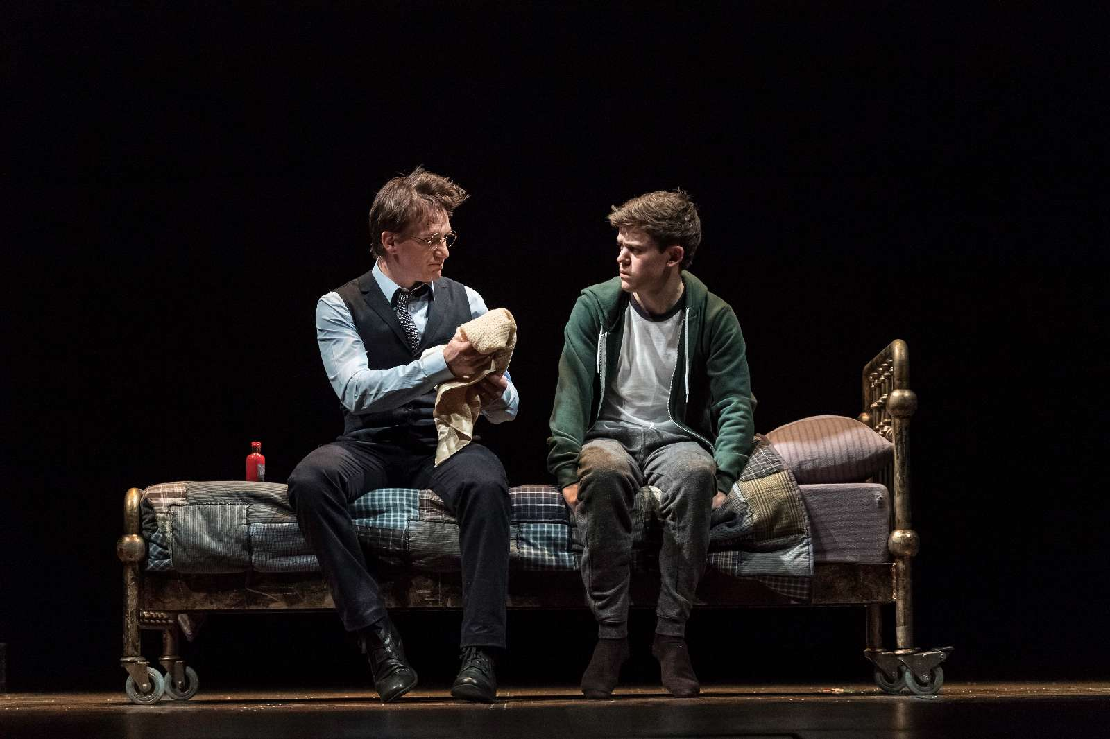 L-R Jamie Parker (Harry Potter) and Sam Clemmett (Albus Potter); Photo by Manuel Harlan - http://www.harrypottertheplay.com/
