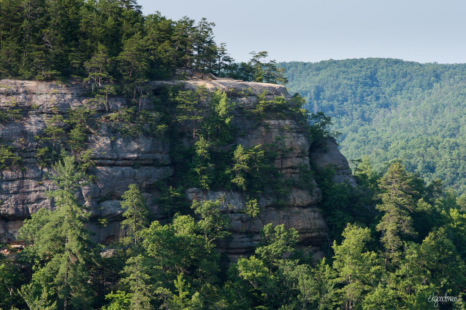 Lookout Point, as seen from the natural bridge