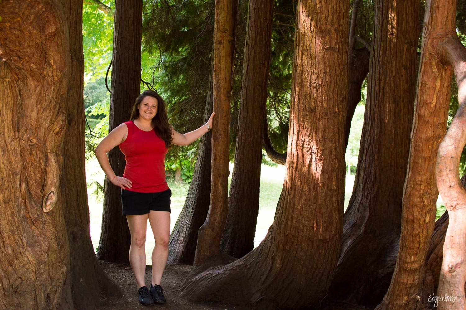Hey, that's me! Among some really cool old cedar trunks that look like they grew out of an old stump.