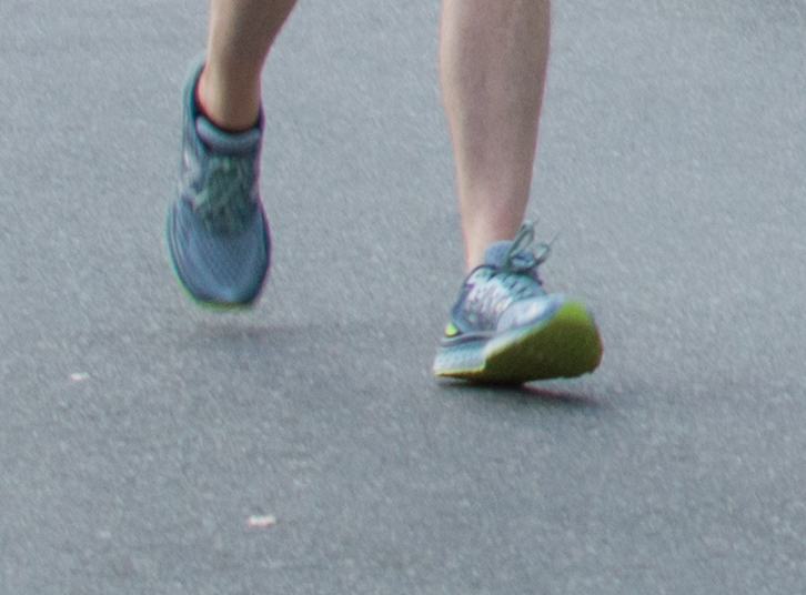 Heel striking - the heel is the first point of contact with the ground when landing on the foot.