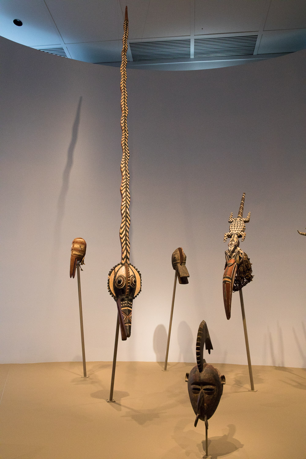 Virginia Museum of Fine Arts - masks in the African art exhibit. The snake mask was extra intriguing.