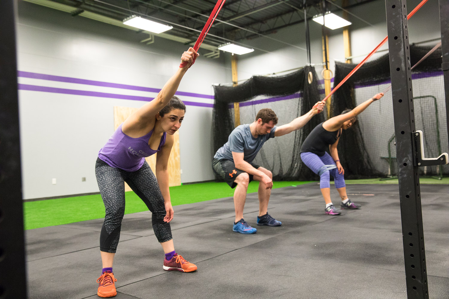 Using resistance bands can help stretch tight and sore muscles.