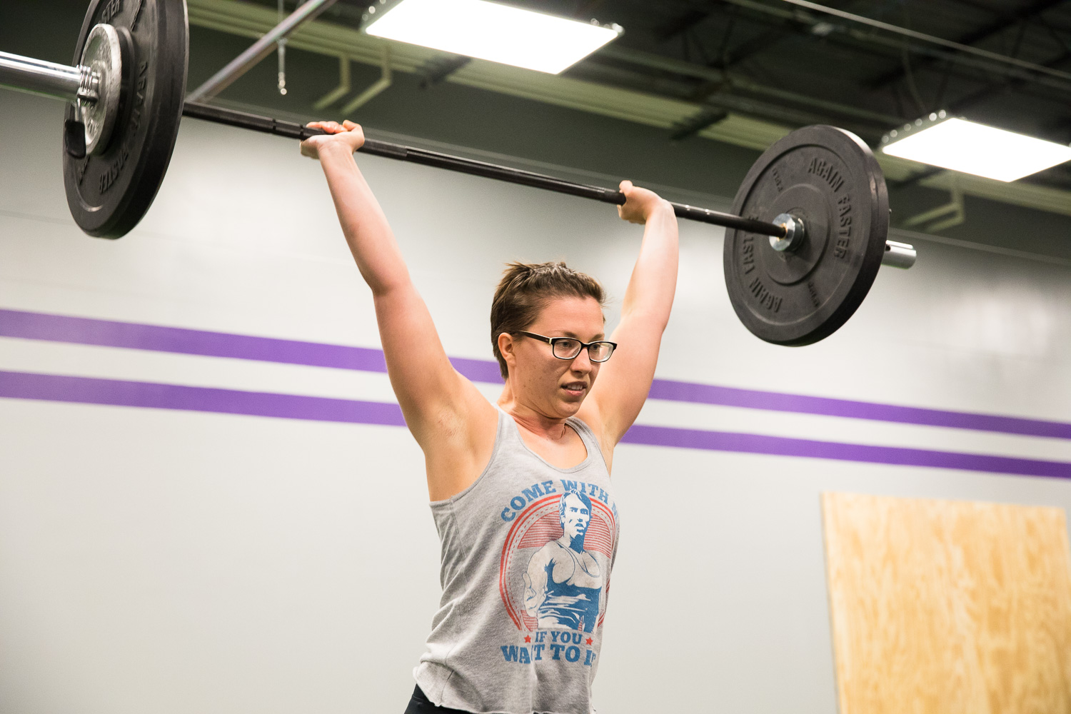"CrossFit Homeward Coach Natalie Parks and her ""Come with me if you want to lift"" tank"
