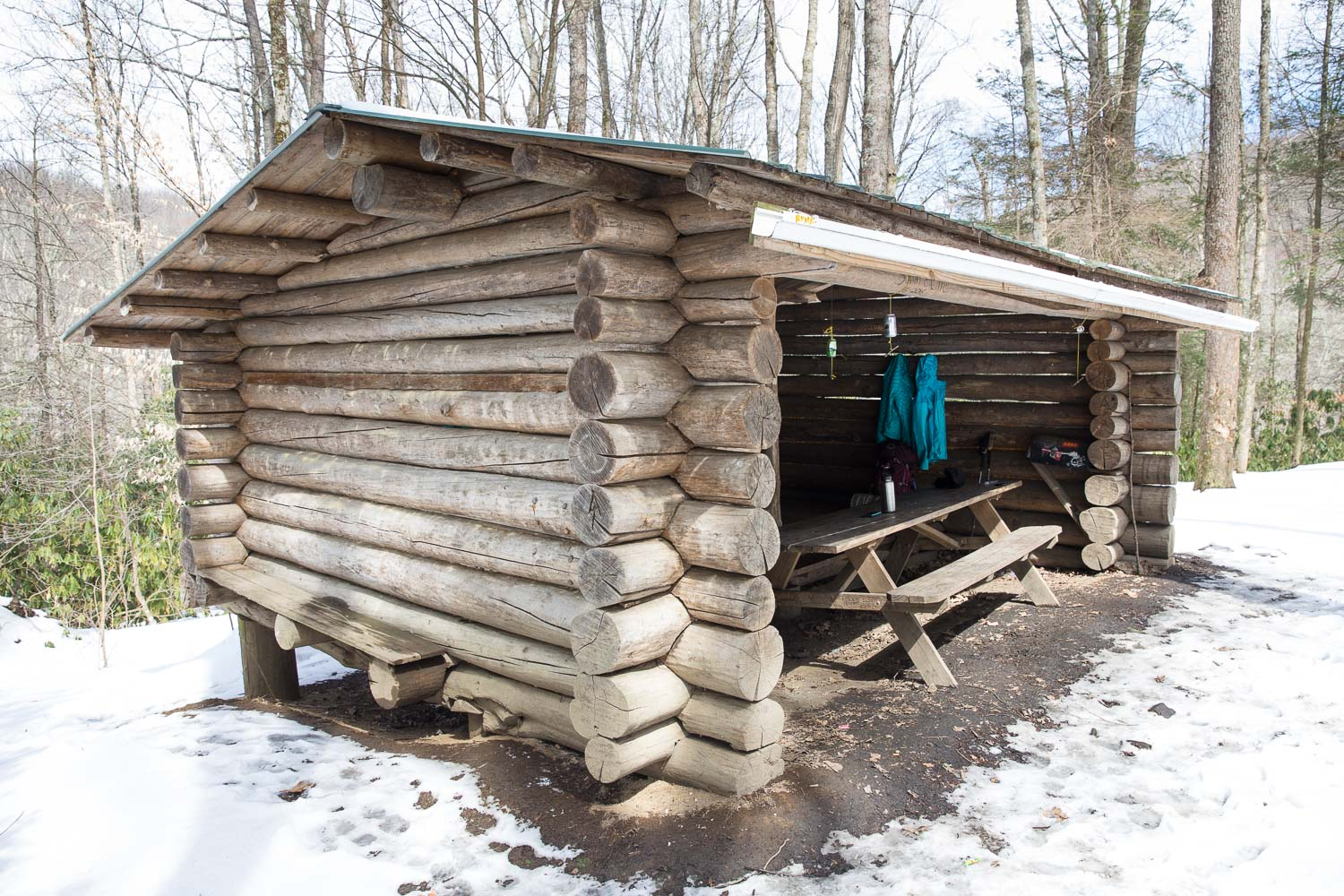 Roaring Fork shelter. Plus a lot of our stuff, ha