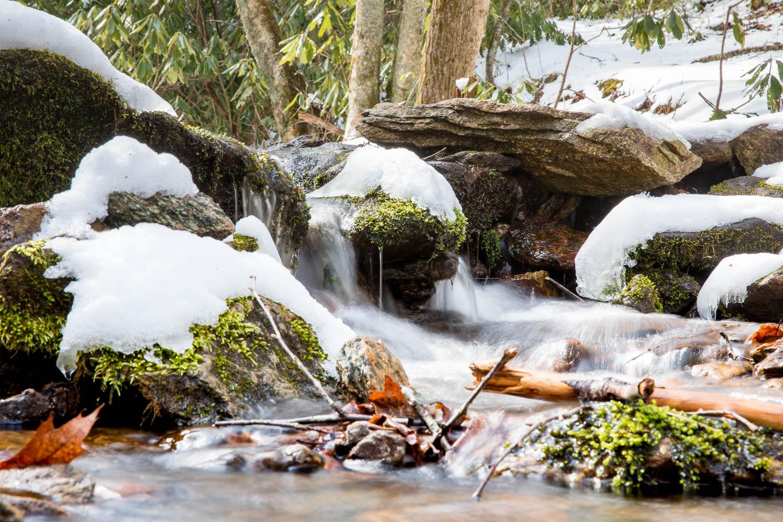 Stream near Roaring Fork shelter on AT