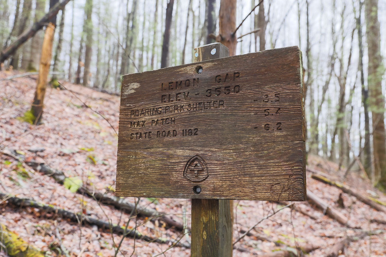 Lemon Gap on Appalachian Trail