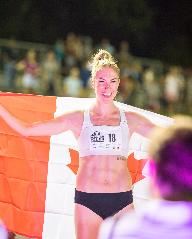 Kate Van Buskirk in third place
