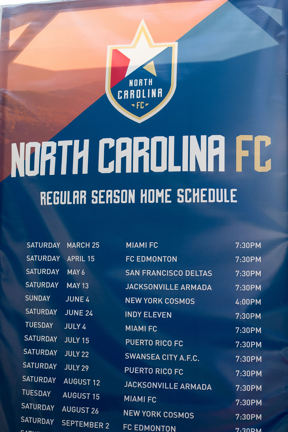 NCFC Schedule