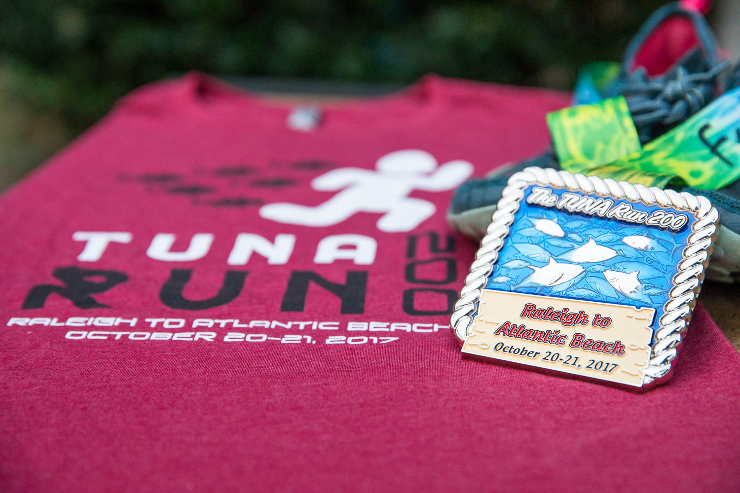 Tuna Run 200 race medal and tshirt