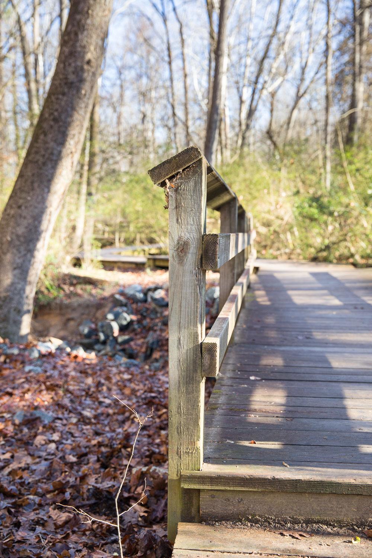 Some boardwalks help with muddy or wet crossings.