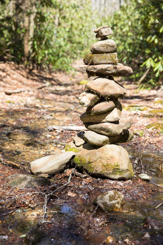 Cairn on Kimsey Creek Trail