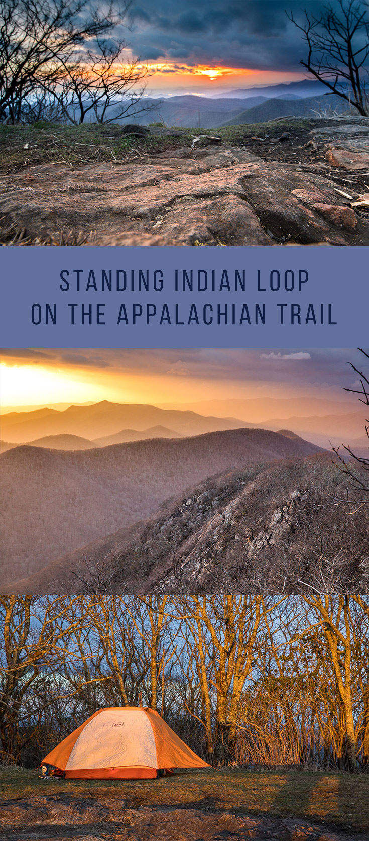 """Standing Indian Loop on the Appalachian Trail: How a myth, a storm, and friendship can electrify your perspective  A long time ago, in the area where Franklin, NC now sits, local Cherokee told a story of a winged beast that swooped down from the skies and stole children. Heartbroken and desperate, the local villagers sent a warrior to the highest mountain to keep watch for the winged monster and to discover its lair. The warrior found the lair, but it was in a place in the mountains inaccessible to humans, so the Cherokee villagers prayed to the Great Spirit for assistance. The Great Spirit heard their pleas and sent thunder and lightning to destroy the winged monster. The lightning scarred the surrounding mountains but the warrior, afraid for his life, tried to abandon his post. To punish his act of cowardice the Great Spirit sent a bolt of lightning to the mountain summit, leaving a bald and turning the warrior to stone. From that day forward the mountain was called Yunwitsule-nunyi which means """"where the man stood.""""  Today we call it Standing Indian Mountain. The bald is still there, as well as the rock scars on the sides of the nearby mountains, but the rock shaped like a man is crumbling, forgotten to all except those that know to look for it."""