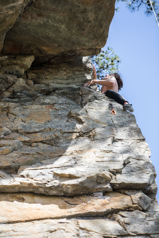 Climbing Pilot Mountain