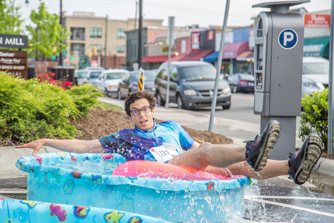That guy looks exactly how I felt in the kiddie pool. Except I had a lot less water.Photo courtesy of  Doughman