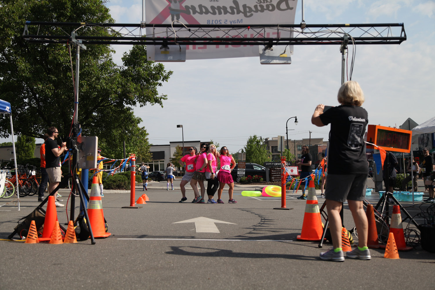 Carbdashians posing before crossing the finish line. Photo courtesy of Michael Peace.