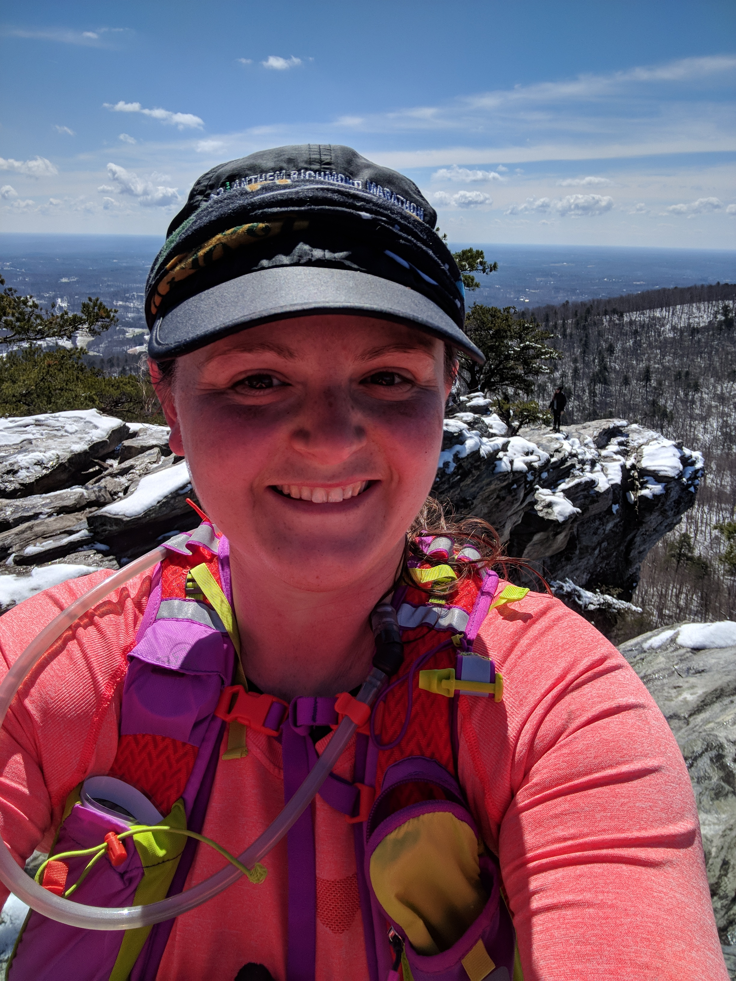 March Fleet Feet runventure at Hanging Rock in the snow